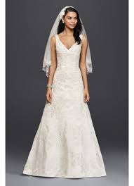 a line wedding dresses as is v neck lace a line wedding dress david s bridal
