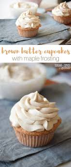 maple frosting brown butter cupcakes with maple frosting sugar spice and glitter
