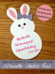 handwriting fonts and silhouette sketch pens to sign easter bunny