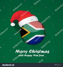 The New South African Flag Flag South Africa Merry Christmas Happy Stock Vector 770044936