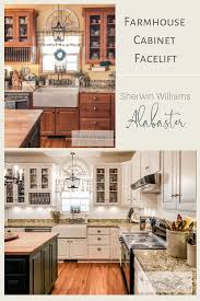 sherwin williams paint with oak cabinets sherwin williams alabaster how to paint kitchen cabinets