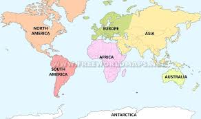 free world maps seven continents maps of the continents by freeworldmaps net