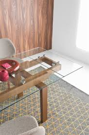 hyper modern extendable dining table calligaris
