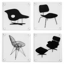 modern drink table amazon com museum of modern art eames acrylic chairs coasters