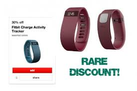 target offering 30 discount on save 30 of a fitbit charge at target