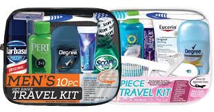 Men 39 s women 39 s on the go 10 piece travel kits just