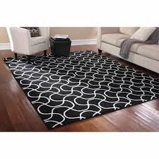 Black White Area Rug Mainstays Rug In A Bag Drizzle Area Rug Black White Walmart