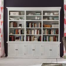Tall Bookcase With Doors by Furniture Home White Wooden Book Cabinet With Three Open Shelf