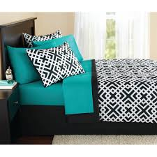 Bed Set Mainstays Interlocking Geo Bed In A Bag Bedding Set Walmart Com