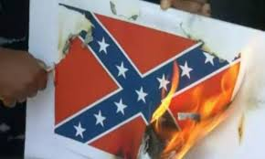 Confederate Flag Buy La Activists Burn Confederate Flag Symbols In Protest Nbc