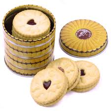 jammy dodger small biscuit tin canister kitchen storage retro