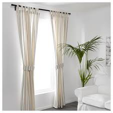 Aina Ikea Curtains Rosenkvitten Curtains With Tie Backs 1 Pair Ikea