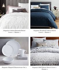 Organic Cotton Pintuck Duvet Cover Shams West Elm The Semi Annual Bedding Event Up To 30 Off Bedding