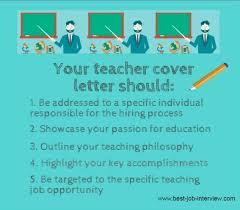 cover letter for teacher position inspirational cover letter for