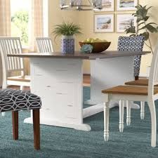 White And Oak Dining Table White Washed Oak Dining Table Wayfair