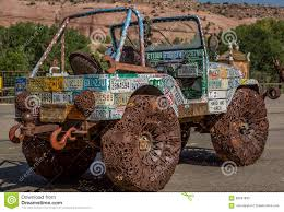 jeep old truck jeep covered in license plates editorial stock image image 58207639