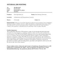 Popular Sample Cover Letter Promotion Cover Letter Template For Internal Position Resume Job Format