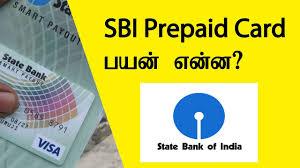 bank prepaid cards state bank prepaid card uses tamil banking