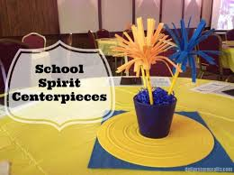 centerpieces for class reunions craft project school spirit centerpieces events