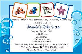 nemo baby shower finding nemo baby shower invitations quintessence charming
