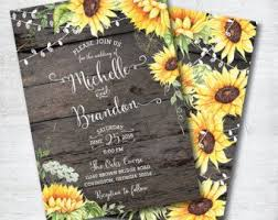 sunflower wedding invitations sunflower bridal shower invitation rustic wood and lace