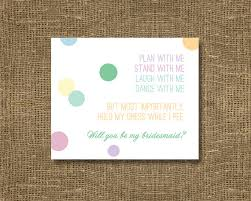 invitations for bridesmaids will you be my bridesmaid of honor cards