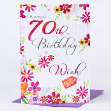 70th birthday card wish to you only 29p