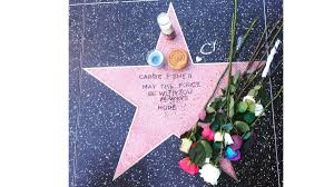 Hollywood Walk Of Fame Map Fans Create A Hollywood Walk Of Fame Star For Carrie Fisher