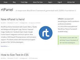 rtpanel best free wordpress theme theme is put on custom menu