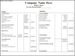 Accounting Balance Sheet Template What Is Balance Sheet In My