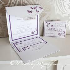 Pocketfold Invitations Magnetic Blossom Pocketfold Wedding Invitation Includes Rsvp And