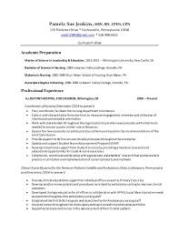 How To Format Education On Resume Pamela Sue Jenkins Cv Updated 2016