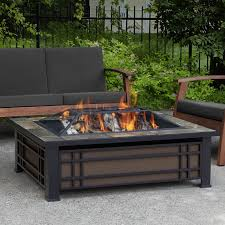 wood burning fire table real flame hamilton steel wood burning fire pit table reviews