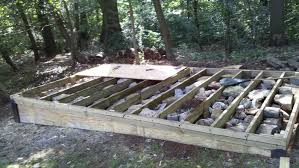 how to build a level shed tiny houses barn foundation platform