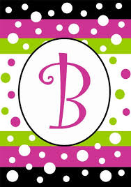 monogram letter b buy small polka dot party monogram flag displays letter b by