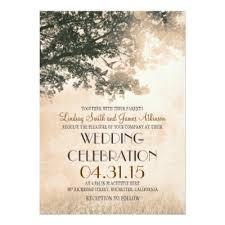 Tree Wedding Invitations Oak Tree Wedding Invitations Country Wedding Invitations