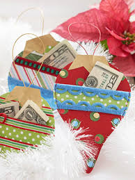 make ornament shape gift card holders for