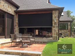 Wind Screens For Decks by Motorized Patio Shading Dallas Tx Motorized Screens Ex Design