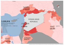 Syria World Map by Syrian Refugee Crisis In Maps