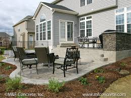 Backyard Concrete Ideas M U0026 F Concrete Inc Residential Stamped Concrete Patio Projects