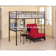 Odmoem Twin Over Desk And Futon Metal Bunk Bed With ChairBlack - Metal bunk bed with desk
