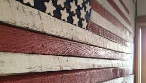 smart inspiration wooden american flag wall hanging burned outdoor