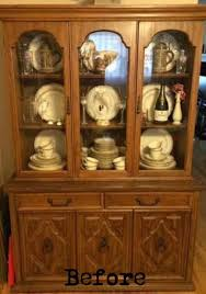 two makeovers from one china cabinet vintage blue buffet hometalk