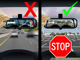 Best Place For Blind Spot Mirror How To Use The Rear View Mirror 10 Steps With Pictures