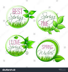 welcome spring quotes design on isolated stock vector 637547494