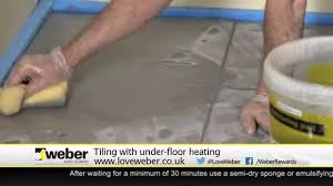 tiling with under floor heating youtube