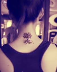 tree designs on neck ideas for tree designs