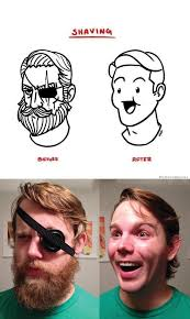 Meme In Real Life - shaving before after meme in real life