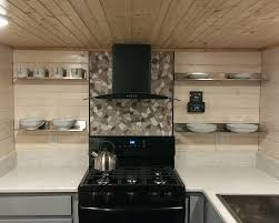 kitchen backsplash stone tiles nuur wood grey mosaic stone tile