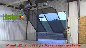 lifestyle screens adds 9 u0027h and 10 u0027h garage door screen youtube